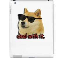 Doge deal with it dog meme iPad Case/Skin