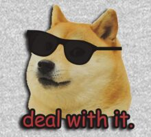 Doge deal with it dog meme by gilbertop