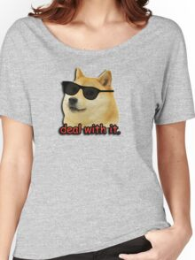 Doge deal with it dog meme Women's Relaxed Fit T-Shirt