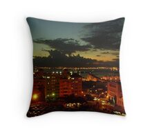 A Night Scene of Gibraltar from the Rock Throw Pillow