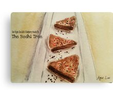 Raw Vegan Chocolate & Raspberry Mousse Pie Canvas Print