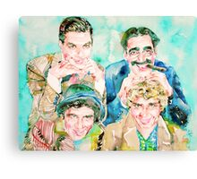 THE MARX BROTHERS watercolor portrait Canvas Print