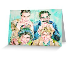 THE MARX BROTHERS watercolor portrait Greeting Card
