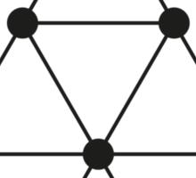 Tetraktys, The Unit Of Four - Pythagoras  Sticker