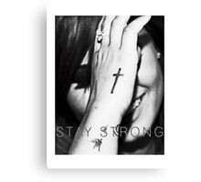 Demi Lovato Stay Strong Halftone Canvas Print