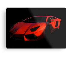 Lamborghini 'Only the Shadow Knows' Metal Print
