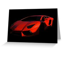 Lamborghini 'Only the Shadow Knows' Greeting Card