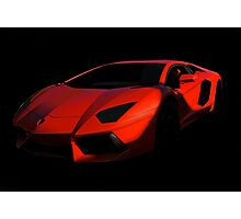 Lamborghini 'Only the Shadow Knows' Photographic Print