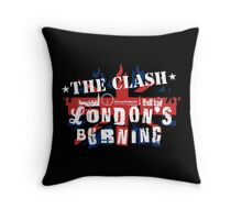 London's Burning Throw Pillow