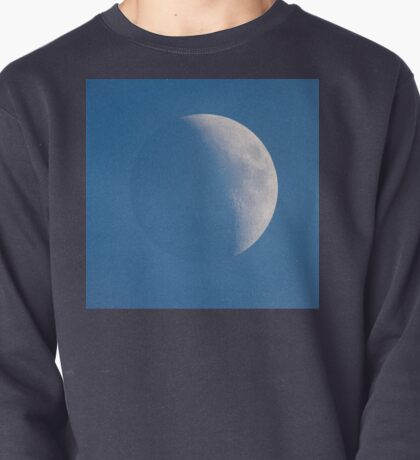 Moon during the day against blue sky Pullover