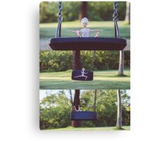 Barbie on the swing Canvas Print