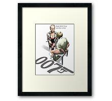 James Bond Parody Framed Print