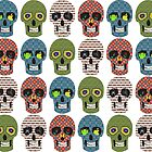 Crazy Sugar Skull Pattern  by ibadishi