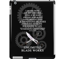 Unlimited Blade Works iPad Case/Skin