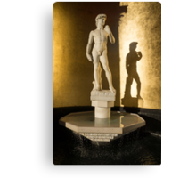 Michelangelo's David and his Shadow Canvas Print