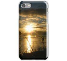 Sunset across the wetlands iPhone Case/Skin