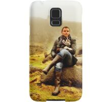 Portrait of a Man and his dog Samsung Galaxy Case/Skin
