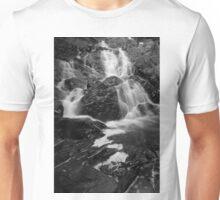 Jeudevine Fallls Black & White Unisex T-Shirt