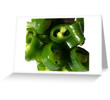 Sliced Green Chilli Greeting Card