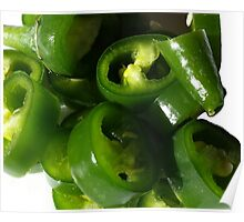 Sliced Green Chilli Poster
