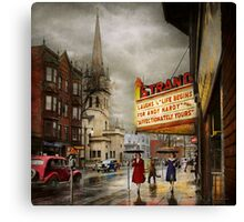 City - Amsterdam NY - Life begins 1941 Canvas Print