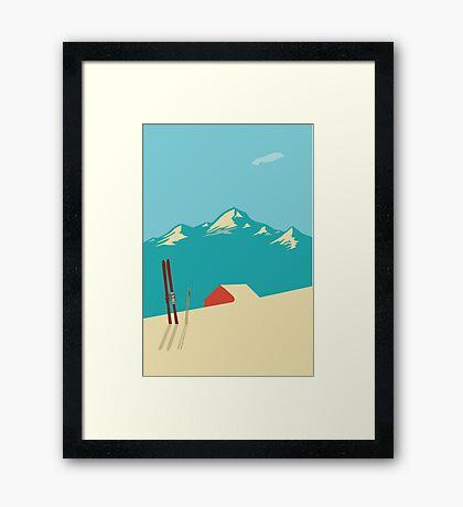 vintage mountains Framed Print