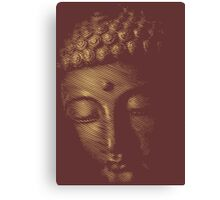 Buddha Face in Abstract Line Halftone Canvas Print