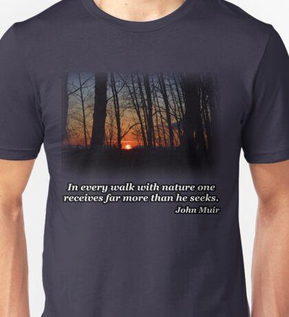 Sunset Trees Unisex T-Shirt