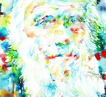 CHARLES DARWIN - watercolor portrait by lautir