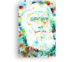 CHARLES DARWIN - watercolor portrait Canvas Print