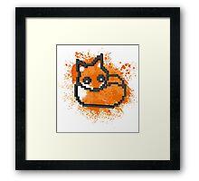 3D PIXEL - FOX Framed Print