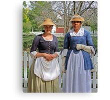 Early American Ladies Canvas Print