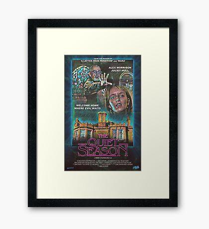 "Retro Film Poster ""The Quiet Season"" Framed Print"