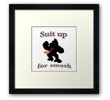 Suit up Smash Framed Print