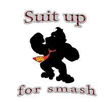 Suit up Smash Photographic Print