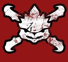 Krogan Skull - White by PPWGD