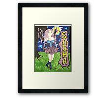 anime sasha Framed Print