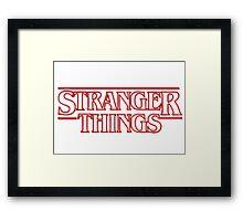 stranger things tv show horror t shirts Framed Print