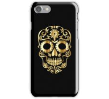 Black And Gold Skull  iPhone Case/Skin