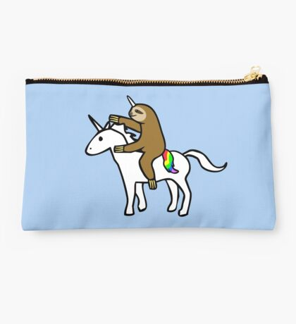 Slothicorn Riding Unicorn Studio Pouch