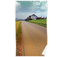 Country road into vibrant scenery | landscape photography Poster