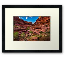 Coyote Gulch At Sunset - Grand Staircase - Escalante - Utah Framed Print