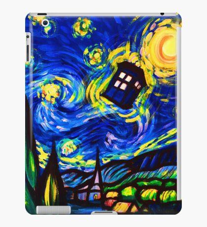 tardis starry night work art  iPad Case/Skin