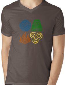 Four Elements Mens V-Neck T-Shirt