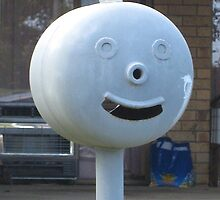Surprised Face Mailbox by Penny Smith