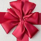 Gift Box with Red Bow by Edward Fielding