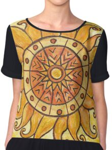 Connected in Energy Mandala Chiffon Top