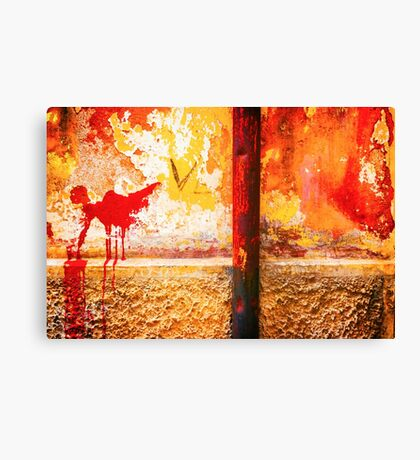 Gutter and decayed wall Canvas Print