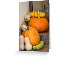 pumpkin in the garden Greeting Card