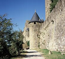 The fortified, old, town of Carcasonne, France by John Morris